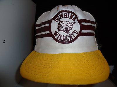 Baseball Cap Pembina Wildcats Nd Trucker Hat Unique Retro Rare Cool Old School