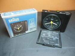 Vtg. 90s BRAUN Analog Travel Alarm Clock AB 313 SL Lubs Rams Germany Modernist