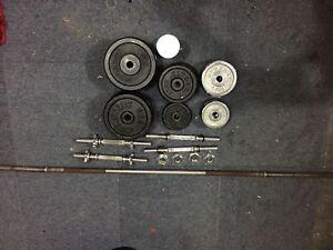 79kg cast iron weight set