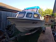 16ft  4.8m fiberglass half cab boat. 75HP Mariner Motor.  Taylors Hill Melton Area Preview