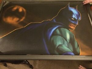 Batman poster (silk canvas,24x36)