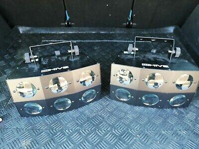 Chauvet disco lights (Hive pair) & carry bag.