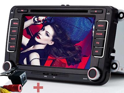 Rückfahrkamera+ Autoradio DVD NAVI GPS Für VW Polo GOLF 5 6 PASSAT TIGUAN TOURAN