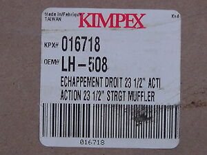 Muffler, Kimpex # 016718 London Ontario image 1
