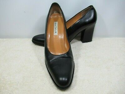 ANN TAYLOR BLACK LEATHER UPPER SIZE 6.5 M MADE IN ITALY