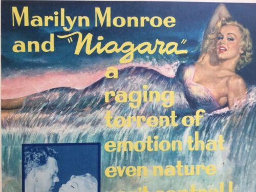 "Iconic Marilyn Monroe Vintage Original Movie Poster for ""Niagara"" (1953)"