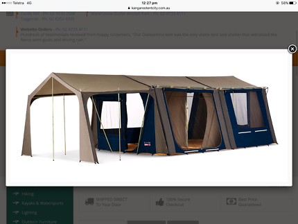 Diamantina hacienda canvas tent & Diamantina Drysdale 9 Extended Tent 4 room in great condition ...