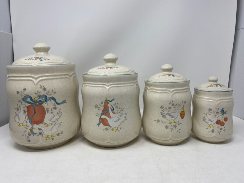 International Stoneware Country Marmalade Canister Set