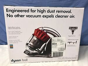 Dyson DC39 Ball Multifloor Red Pro Canister Vacuum With 5 Tools   NEW.