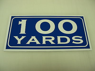 Vintage 100 YARD MARKER Metal Sign 4 Golf Club Yardage sign for Golf Course