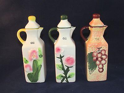 2 Piece Jar - 2-piece Small Oil and Vinegar Ceramic Dispenser Jar Cruet Pottery VARIATIONS
