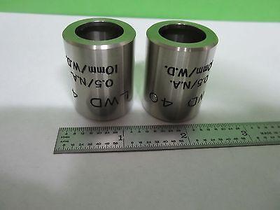 Microscope Part Objective Jacket Lot 2 Ea Leitz Wild Lwd 40 As Is Binc3-l-16