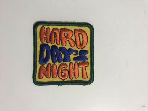 Vintage Rare Embroidered 1960's Hard Day's Night Patch
