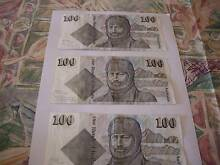 old $100 notes Australian real money Edithvale Kingston Area Preview