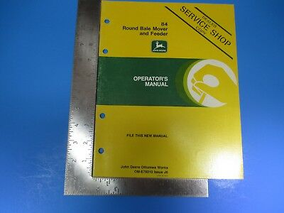 John Deere Operators Manual Om-e78010 84 Round Bale Mover Feeder Issue J6 M5380