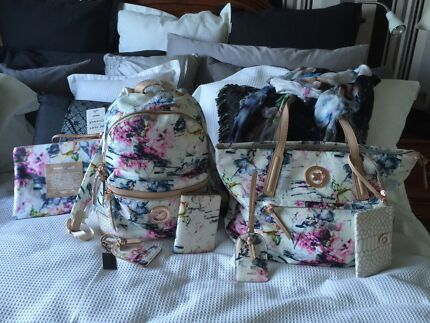 Mimco BNWT Float on Air Backpack, Tote, Passport, Scarf