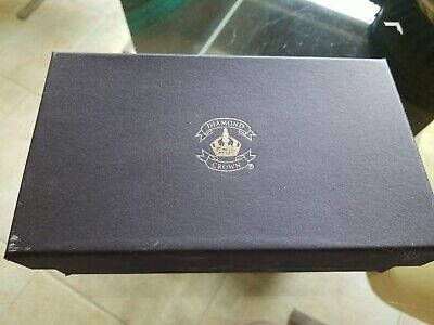 Diamond Crown leather Cigar caddy travel humidor felt lined triple cigar zipper