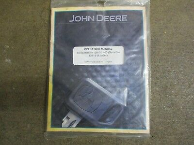 John Deere 430 460 Loader Owners Maintenance Manual