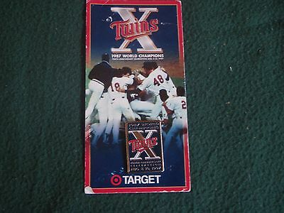 PIN - 10th ANNIVERSARY CELEBRATION of 1987 WORLD SERIES 1997 TWINS
