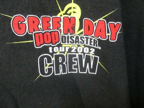 VTG 2002 Green Day Pop Disaster Tour Crew T Shirt Tagged Delta XL
