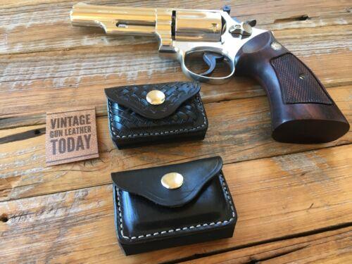 Vintage Alfonsos Black Leather .38 .357 Ammo Cartridge Holder Pocket Belt
