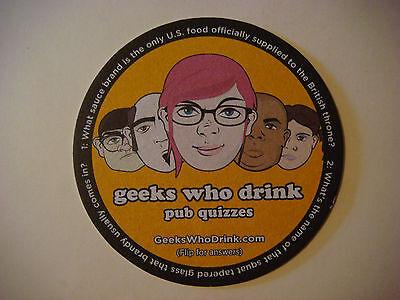 Bier Untersetzer Barmatte ~ Geeks Who Drink Quizmaster Trivia; Tabasco