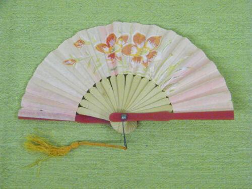 Vintage Beautiful Hand Held Fan, Made In Japan