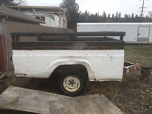 Pick-up box utility trailer