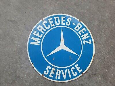 Vintage Mercedes Benz ServPorcelain Sign Automotive Farm Hunting Fishing Camping