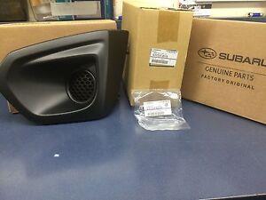 2012-2014 Subaru Impreza Left Driver Fog Light Bezel & Cover Grille Set BLACK !!