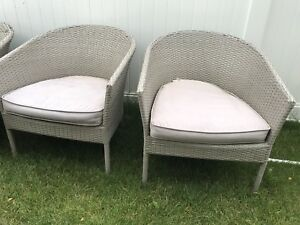 Wicker 4pc patio set
