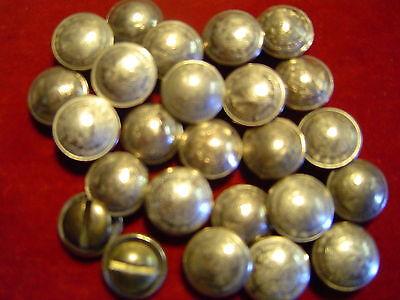 CONCHOS: 10 Mexican Nickle Silver 10 Centavos w/ post & screw