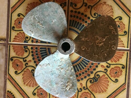 Vintage BRONZE Propeller covered with Natural Marine Growth Nautical Decoration!
