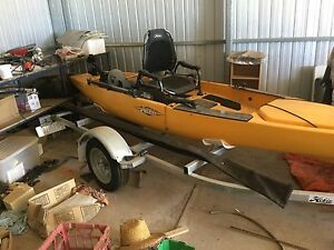 Hobbie Mirage Pro Angler 14. Plus 2 other fishing canoe Cowell Franklin Harbour Preview