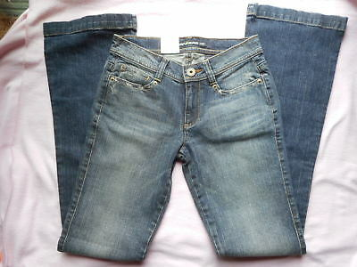 NWT DKNY Jeans size 2 R Slim fit Low rise Flare