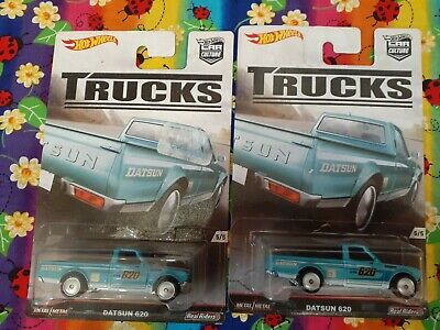 Hot Wheels Lot of 2-2017 Truck Series Datsun 620 Blue
