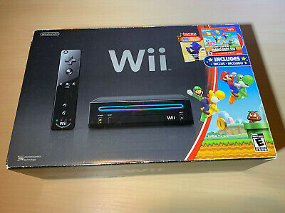 Nintendo Wii Super Mario Bros. Black Console Open Box