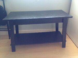 Black ikea table/stand