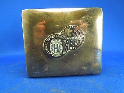 Vintage 1960 Home Life Insurance Co Century Serving American Families Silver Box