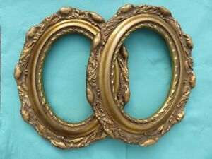 SHABBY CHIC OVAL 5 x 7 PICTURE FRAME Antique gold gilt