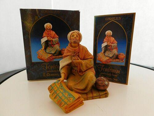 "Fontanini Depose Italy ""Cornelius"" 5 inches Figurine with Box & Story Card"
