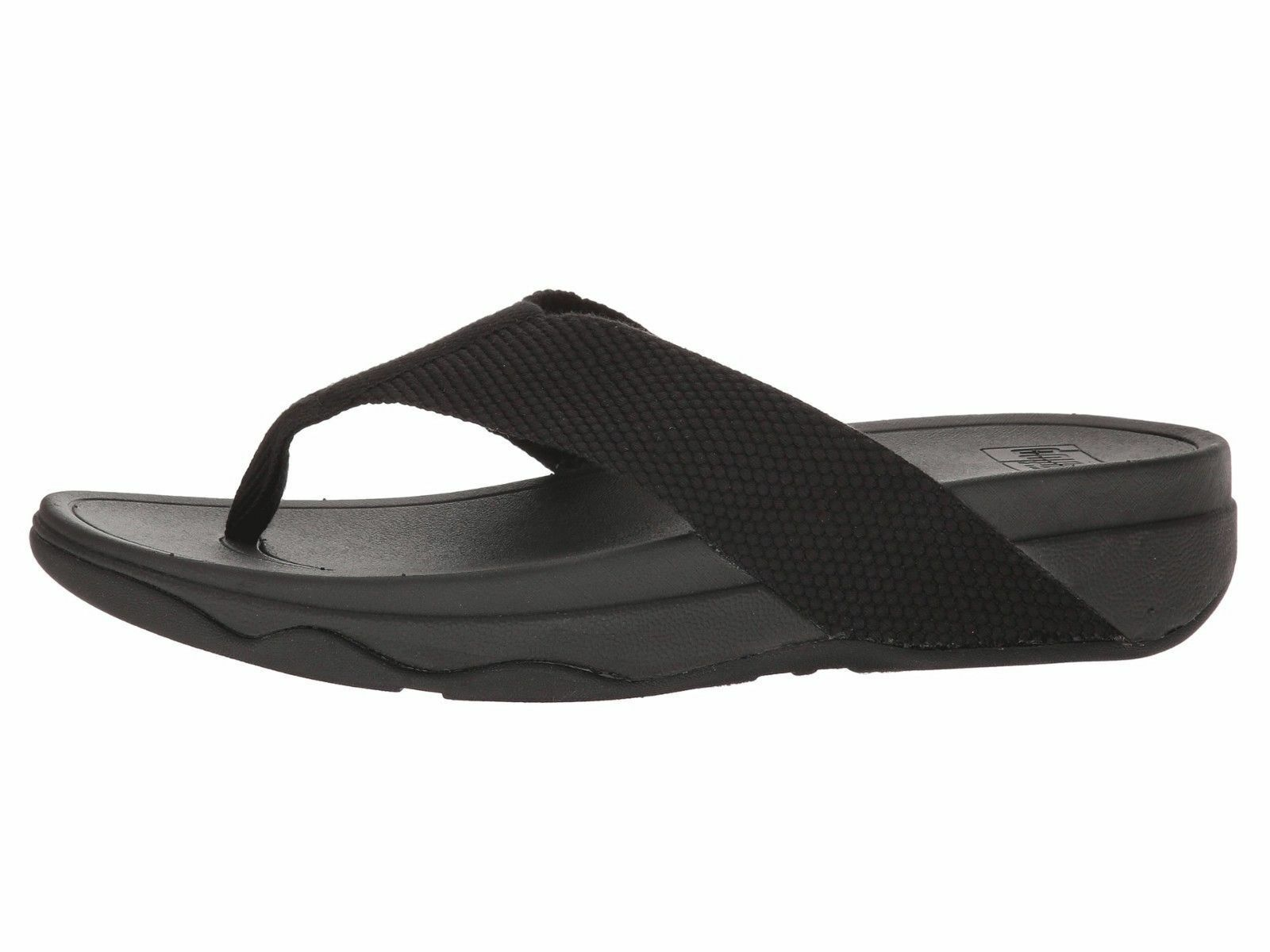Fitflop Surfa Black Women's T-Strap Wedge Sandal H84-001