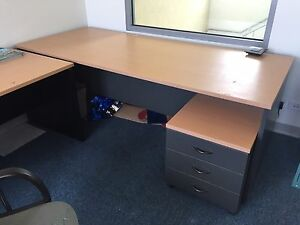 Large office desk 2.5m long with matching drawers Tempe Marrickville Area Preview