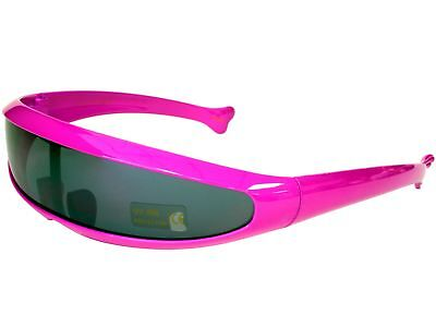 Trekkie Robot Devo Hairband 80s Robotica Party Cyclops Sunglasses Pink - Devo Sunglasses