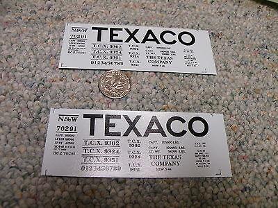 Herald King decals S Gauge Texaco TCX black - 2 sheets   XX368