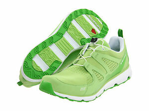 Salomon S-Wind Inca Womens Size 8.5 Green White Athletic Shoes Sneakers $120