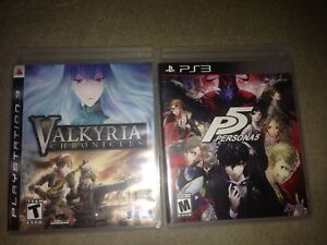 Persona 5 and Valkyria Chronicles ps3