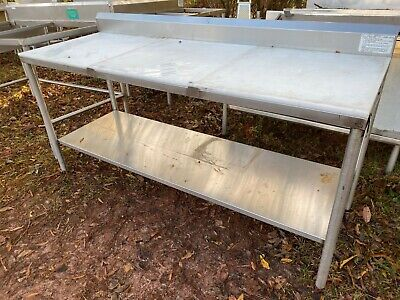 Heavy Duty 72 X 25 Commercial Stainless Steel Food Polytop Meat Cutting Table