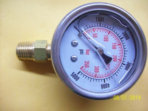 2 inch  Pressure Gauge-Liquid Filled 5000 PSI