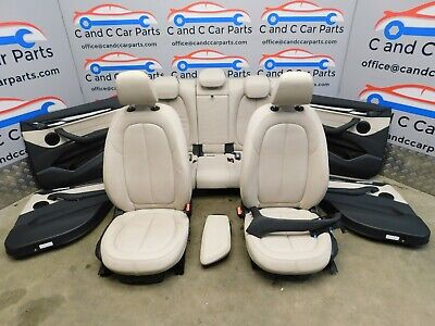 BMW X1 Oyster Leather Seats Electric Heated Memory Door Cards Pre LCI F48 23/1